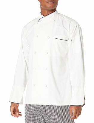 Uncommon Threads Unisex-Adult's Plus Size SAN Marco WHT W/BLK Piping 4XL