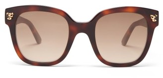 Cartier Panthere De Square Acetate Glasses - Tortoiseshell