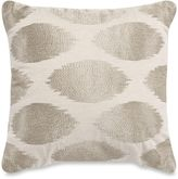 Metallic Embroidered Square Throw Pillow