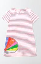 Toddler Girl's Mini Boden Stripe Applique Dress