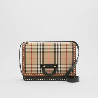 Burberry The Medium Leather and Vintage Check D-ring Bag