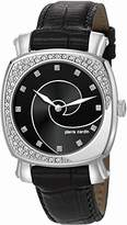 Pierre Cardin Fresque Women's Quartz Watch with Black Dial Analogue Display and Black Leather Strap PC105632F02