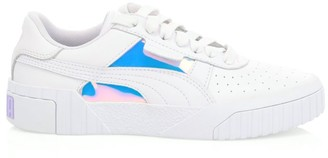 Puma Women's Cali Glow Iridescent Leather Platform Sneakers