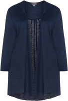 Via Appia Plus Size Open jersey cardigan