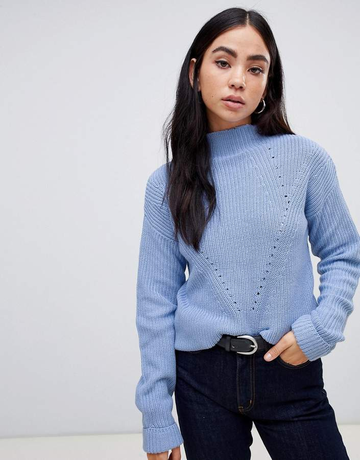 B.young Textured High Neck Sweater