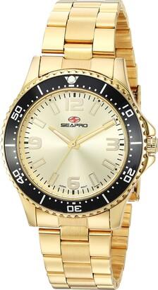 Seapro Women's SP5413 Tideway Analog Display Quartz Gold Watch