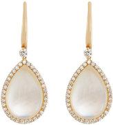 Roberto Coin 18k Rose Gold Diamond & Crystal Doublet Teardrop Earrings