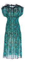 Paule Ka Lurex Floral Lace Plisse Dress