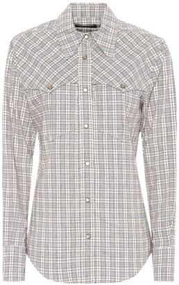 Isabel Marant Riana checked cotton shirt