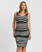 Angel Maternity Maternity Bodycon Fitted Sleeveless Dress