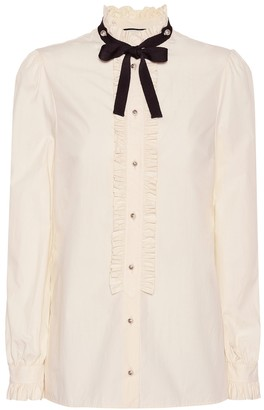 Gucci Embellished silk blouse