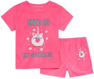 PEACE LOVE AND DREAMS Peace Love And Dreams Girls 2-pc. Shorts Pajama Set Preschool