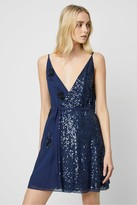 French Connection Aurora Embellished Wrap Dress