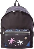 Saint Laurent Classic City California Palm Beach Canvas Backpack