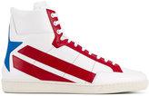 Saint Laurent 'Star Leather' Hi-Top Sneakers