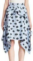 Proenza Schouler Draped Printed Skirt