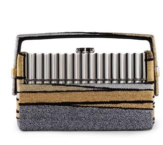 BIENEN-DAVIS Xenon Gold Stripe Minaudiere Bag
