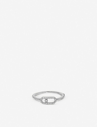 Messika Move Uno 18ct white-gold and pave diamond ring