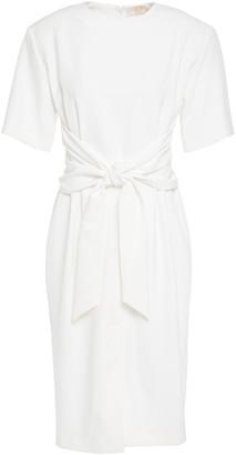 Sara Battaglia Tie-front Cady Dress