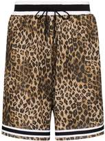 John Elliott Game leopard-print shorts