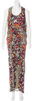 Matthew Williamson Abstract Print Maxi Dress