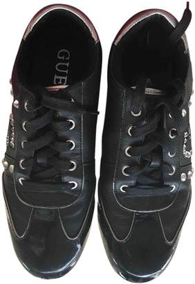 GUESS Black Patent leather Trainers
