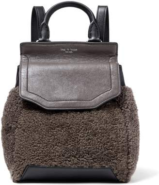 Rag & Bone Pilot Ii Small Leather And Shearling Backpack
