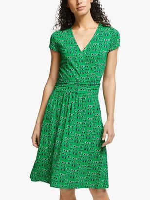 Boden Lola Jersey Dress, Rich Emerald Lunettes