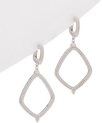 Judith Ripka Classic Silver Drop Earrings