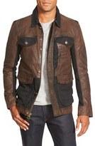 Timberland Men's 'Tenon' Leather & Twill Mixed Media Jacket