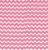 686 SheetWorld Fitted Basket Sheet - Bubble Gum Pink Chevron Zigzag - Made In USA - 13 inches x 27 inches (33 cm x cm)