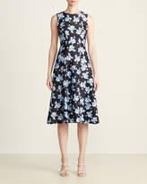 Tommy Hilfiger Black & Blue Floral Flare Midi Dress