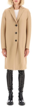 Harris Wharf London Double Wool Cocoon Coat