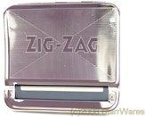 "OCB 16925 Zig Zag Regular Rolling Box for the perfect Cigarette Rolling Machine, Chrome, Silver, 8 x 8 x 2 """