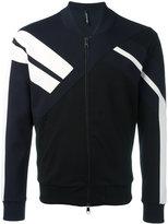 Neil Barrett striped sleeve bomber jacket - men - Viscose/Lyocell/Cotton/Spandex/Elastane - XXL