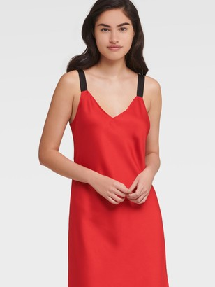 DKNY Women's Thick Strap Cami Dress - Red Alert - Size XX-Small