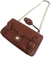 Ralph Lauren Ricky Burgundy Leather Handbags