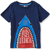 Joules Little Boys 3-6 Ray Shark Glow-in-the-Dark Top