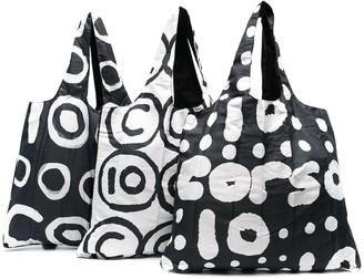 10 Corso Como Reversible Printed Tote Bag