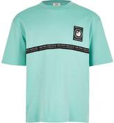River Island Boys RI Active mint tape oversized T-shirt
