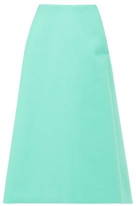 Balenciaga A-line Faux-leather Skirt - Womens - Green