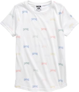 Sometime Soon Campus Logo Organic Cotton T-Shirt