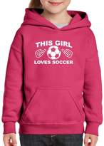 Xekia This Girl Loves Soccer Hoodie For Girls and Boys Youth Kids