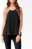 Forever 21 Sequined High-Low Top
