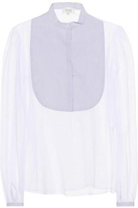 Isa Arfen Tulle bib-front blouse