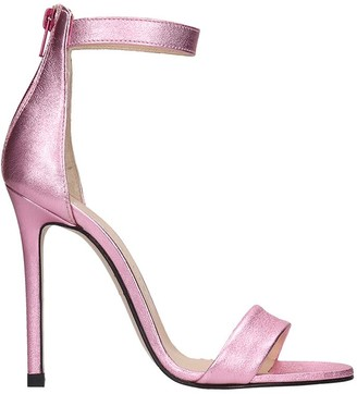 Marc Ellis Sandals In Rose-pink Leather