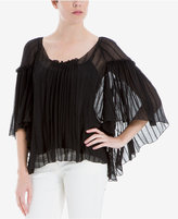 Max Studio London Sheer Batwing-Sleeve Top