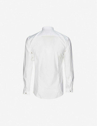 HUGO Extra-slim fit cotton-poplin shirt