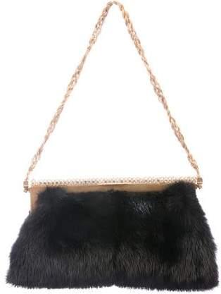 Valentino Mink Frame Bag
