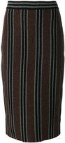 Antonio Marras striped pencil skirt - women - Polyamide/Viscose/Angora/Wool - M